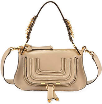 Chloé Marcie Small Shiny Saddle Shoulder Bag