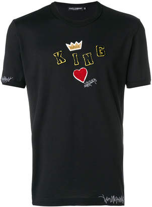 Dolce & Gabbana King patch T-shirt