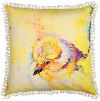"""Rizzy Home Mariah Parris 20"""" x 20"""" Animal Print Poly Filled Pillow"""