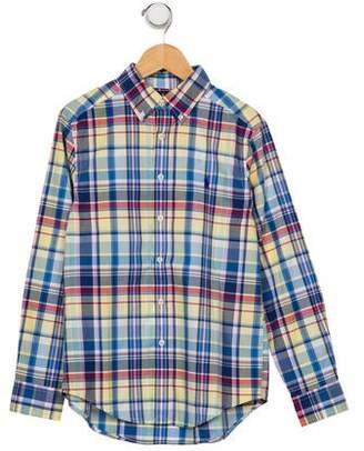 Ralph Lauren Boys' Plaid Dress Shirt
