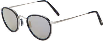 Oliver Peoples OV1104S Cobalt Tortoise-Like & Silver-Tone Round MP-2 Sunglasses