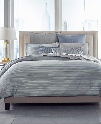 Hotel Collection Cotton Diamond Stripe King Duvet Cover, Created for Macy's Bedding
