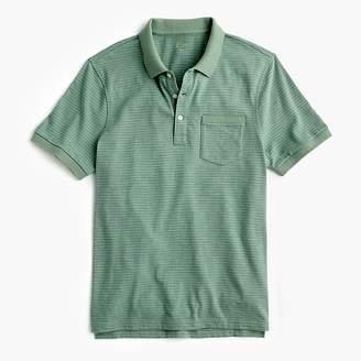 J.Crew Slub cotton polo shirt in stripe