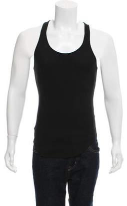 Balmain Rib Knit Sleeveless T-Shirt