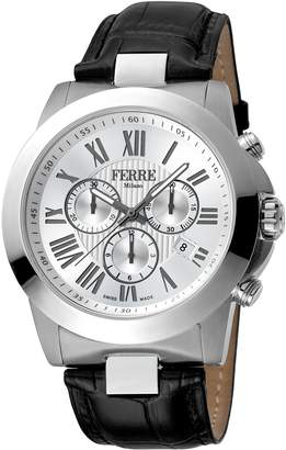 Ferré Milano Men's FM1G079L0011 Dial with Black Leather Band Watch