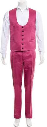 Dolce & Gabbana Silk Two-Piece Suit w/ Tags