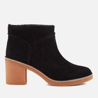 UGG Women's Kasen Suede Heeled Ankle Boots - Black
