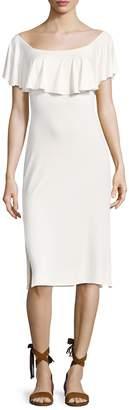 Rachel Pally Women's Franka Solid Flounce Overlay Sheath Dress