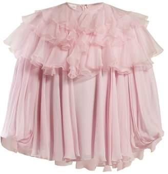 Giambattista Valli Ruffled Silk Blouse - Womens - Pink