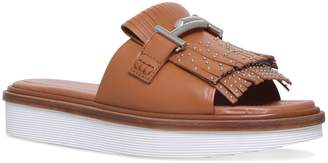 Tod's Leather Double-T Slides