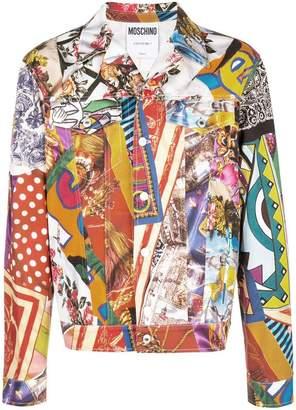Moschino multiprint denim jacket