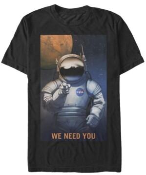 Nasa Men's Mars We Need You Short Sleeve T-Shirt