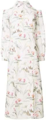 Vilshenko printed cold shoulder dress