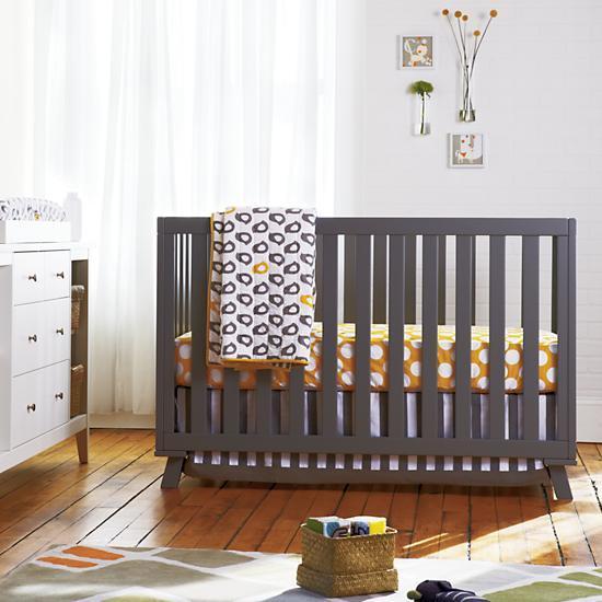 Grey Low-Rise Crib (Grey Frame w/Grey Base)
