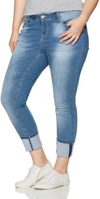 YMI Jeanswear Women's Plus Size Juniors Luxe Single Button Mega Cuff Anklet