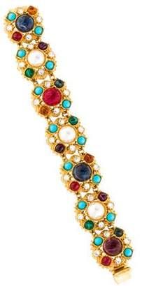 Ben-Amun Ben Amun Multicolor Resin & Crystal Station Bracelet