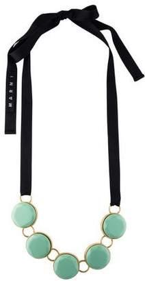 Marni Green Resin Circle Collar Necklace