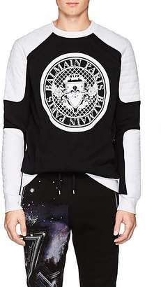 Balmain Men's Logo Cotton Moto Sweatshirt