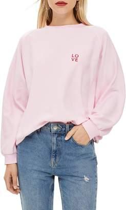 Topshop by Tee & Cake Logo Logo Sweatshirt