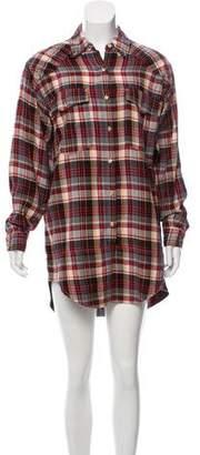 Etoile Isabel Marant Casual Plaid Shirtdress