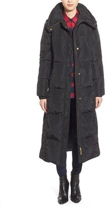 Women's Ellen Tracy Techno Down Maxi Coat $260 thestylecure.com