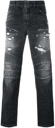 Balmain biker jeans $1,490 thestylecure.com