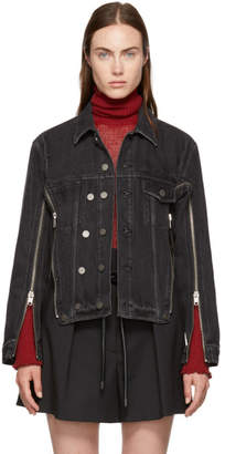 3.1 Phillip Lim Black Zippered Denim Jacket