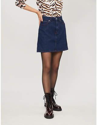 Calvin Klein High-rise denim skirt