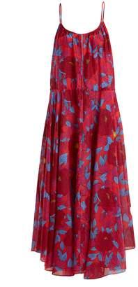 Diane von Furstenberg Floral-print cotton and silk-blend dress