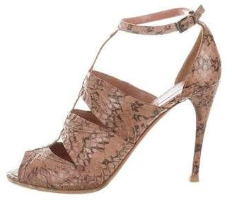 Alaia Snakeskin Cutout Sandals