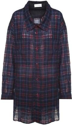 Faith Connexion Check-print Wool-blend Oversized Shirt
