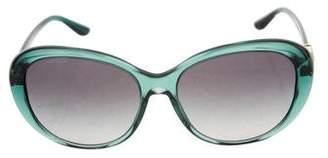 Versace Embellished Oversize Sunglasses