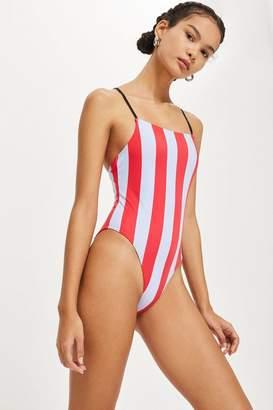 Topshop Straight Neck Swimsuit