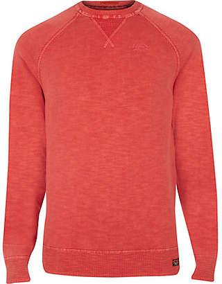River Island Superdry orange sweater