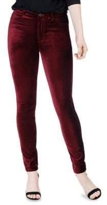 Paige Hoxton Velvet High-Rise Skinny Jeans