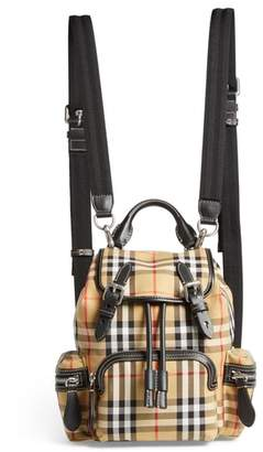 Burberry Small Rucksack Check Cotton Backpack