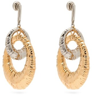 Givenchy Eclipse Interlocking Hoop Earrings - Womens - Gold