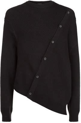Lanvin Asymmetric Button Sweater