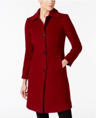 Anne Klein Seamed Walker Wool-Cashmere Blend Coat