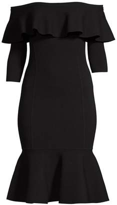 Michael Kors Rumba Bardot Peplum Dress