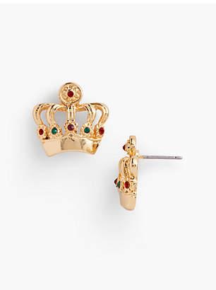 Talbots Crown Stud Earrings