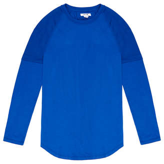 Helmut Lang Blue Double Sleeve T-Shirt