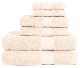 ADI Organic 6 Piece Towel Set in Ivory