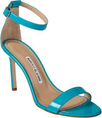 Manolo Blahnik Chaos 90 Patent Sandal