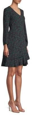 Draper James Women's Winterberry Print Flutter A-Line Dress - Navy Multi - Size 2