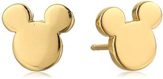 Disney Sterling Silver Plated Mickey Mouse Silhouette Post Stud Earrings