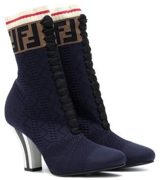 Fendi Rockoko knit ankle boots