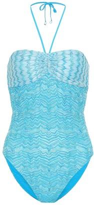 Missoni Mare Crochet halterneck swimsuit