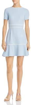 Aqua Piped Flounce-Hem Dress - 100% Exclusive