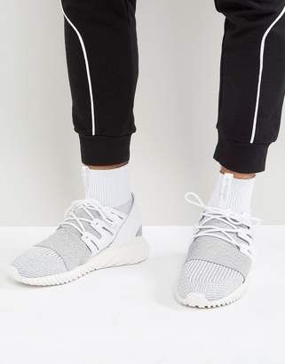 adidas Tubular Doom Primeknit Sneakers In Grey By3553